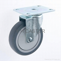 25 Series 4x1 TPR Caster (Swivel Plate)