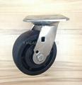 5x2 耐高温尼龙轮 不锈钢重型活动 (黑)