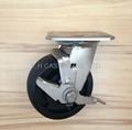 5x2 耐高温尼龙轮 不锈钢重型边刹 (黑)