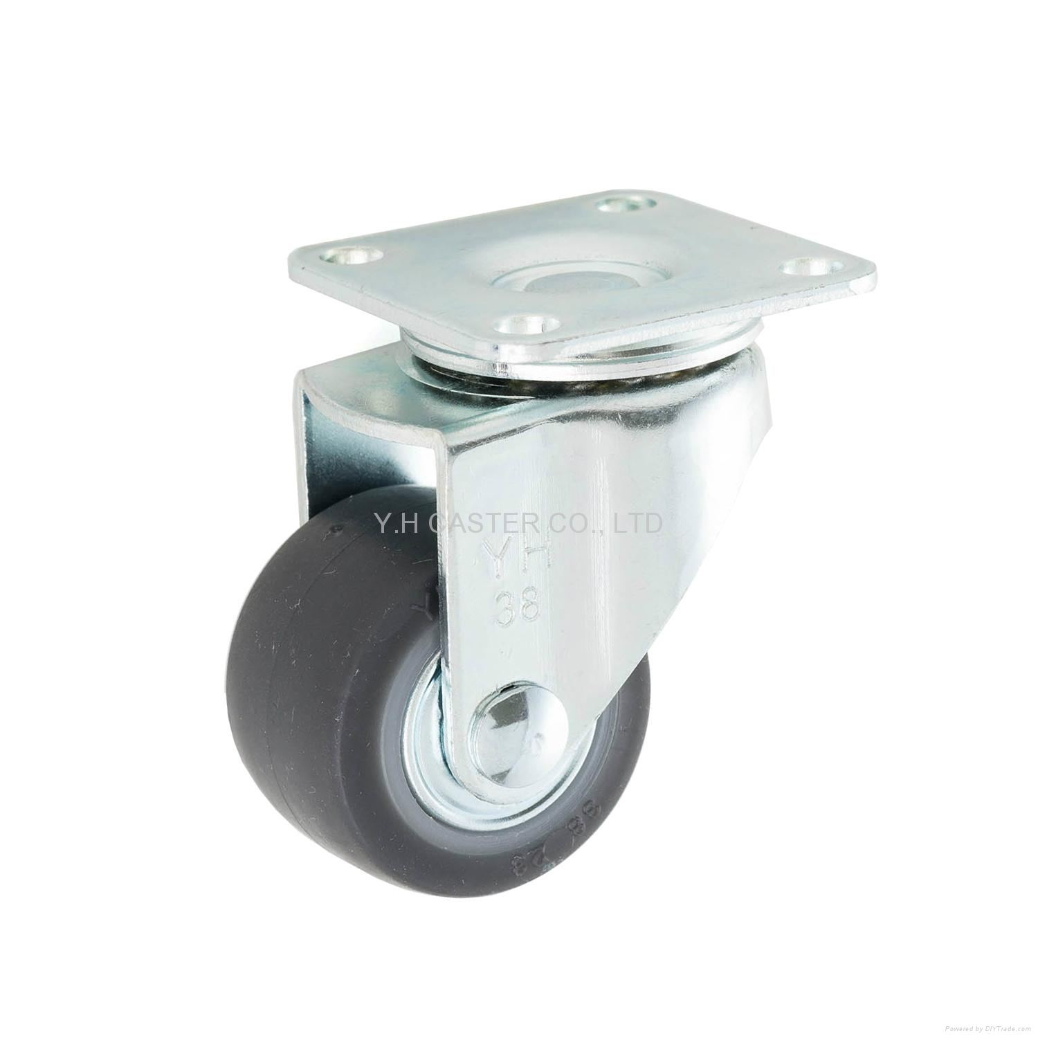 23 series 3823 high elastic tpr caster swivel plate for Y h furniture trading