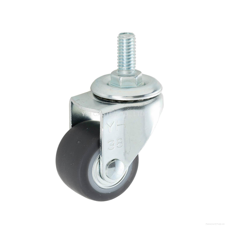 23 Series 3823 High Elastic TPR Caster (Swivel Threaded Stem)