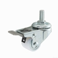 23 Series 2723 Nylon Caster (Threaded Stem with Brake)