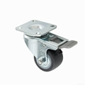 23 Series 3823 High Elastic TPR Caster (Plate with Brake)