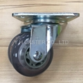 48 Series 3x2 Dual PU Wheel Machine Caster