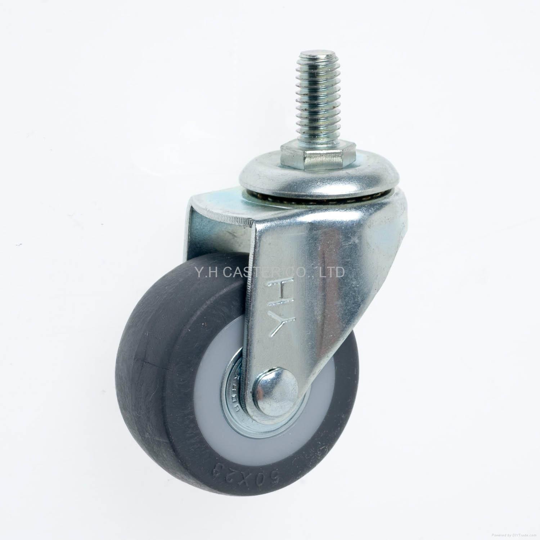23系列 5023高彈性TPR腳輪 螺絲活動 / 雙剎 2