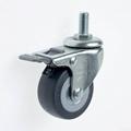 23系列 5023高彈性TPR腳輪 螺絲活動 / 雙剎 4