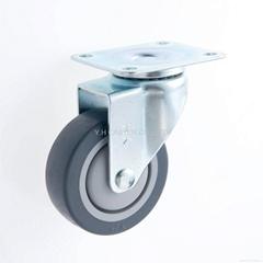 25系列 3x1 TPR 新式儀器輪(灰) 四角活動/雙剎