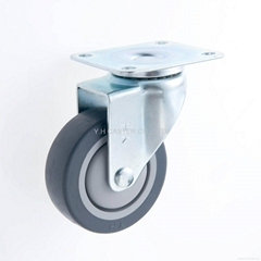 25 Series 3x1 TPR Caster (Grey) (Plate w/o Brake)