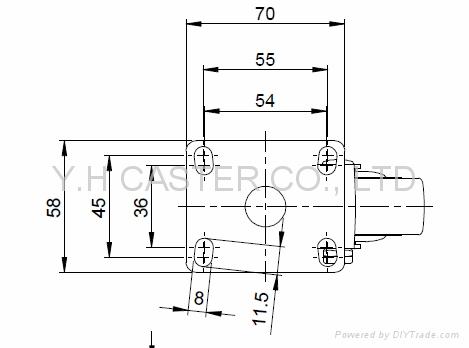 25系列 3x1 TPR 新式儀器輪(灰) 四角活動/雙剎  10