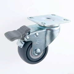 """25 Series 2.5"""" TPR Caster (Plate with Brake)"""
