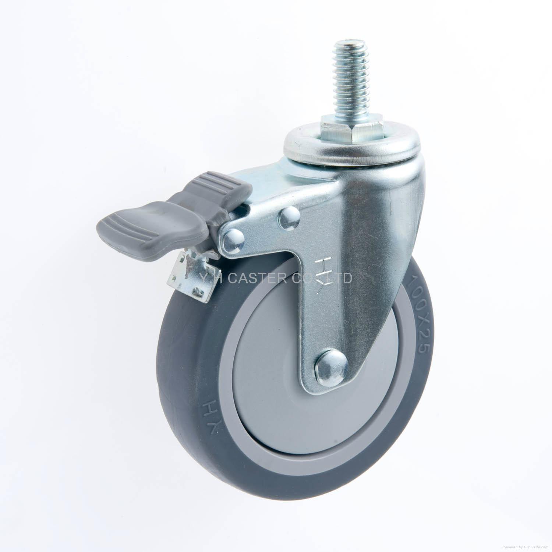 25系列 4x1 TPR 新式儀器輪 螺絲雙剎