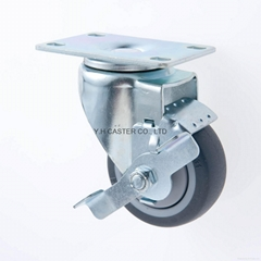 31 Series 314 High Elastic TPR Caster (Plate with Brake)
