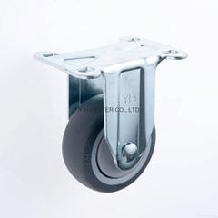 31系列314 高彈性TPR腳輪 固定