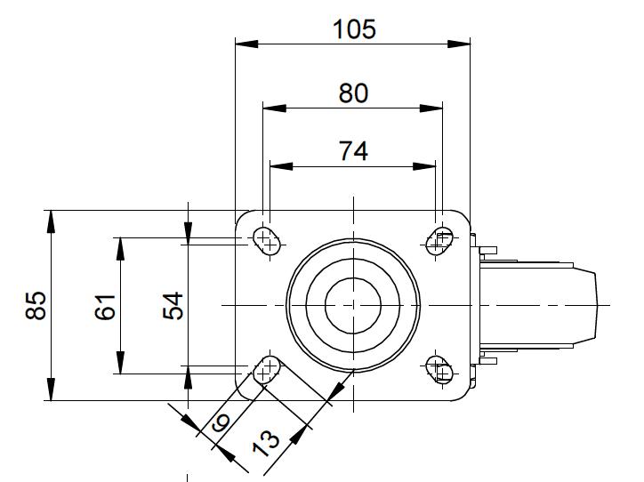 39系列 415 尼龍腳輪 - 歐洲板 5