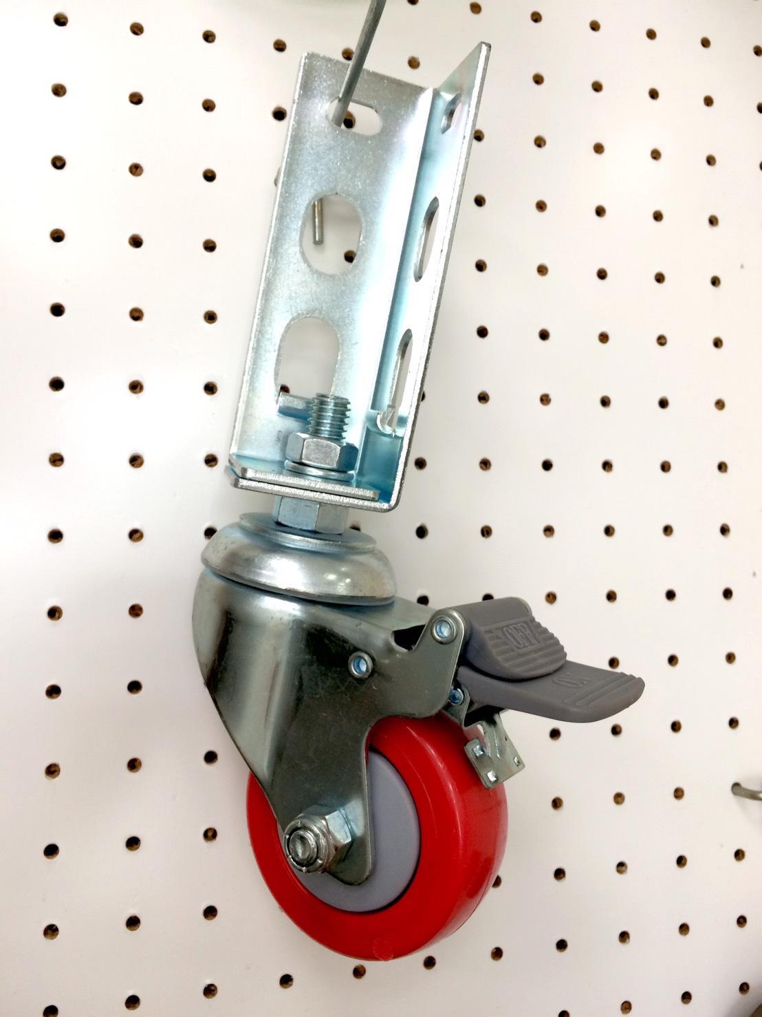 免螺絲角鋼輪 - 314 紅輪