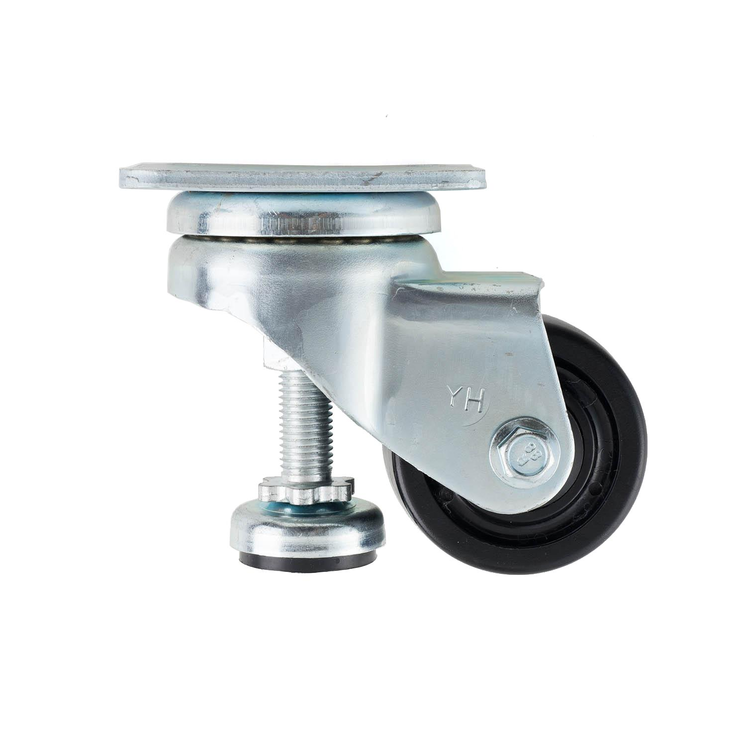 """3"""" Square Plate Caster with Level Adjuster"""