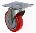 4 inch PU Platform Truck Caster (swivel plate)
