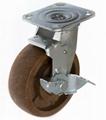 6x2 耐高温尼龙轮 重型边刹 (咖啡)