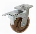 6x2 耐高温尼龙轮 重型双刹 (咖啡)