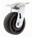 5x2 耐高温尼龙轮 重型活动 (黑)
