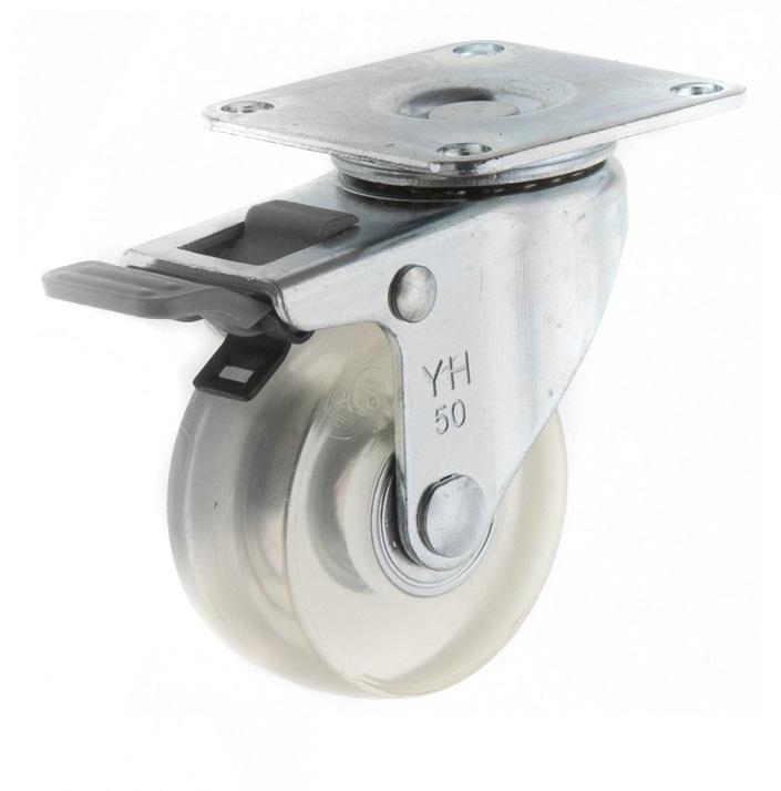 5022 PVC 透明轮 四角双刹