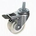 5022 PVC Transparent Caster (Stem with Total Brake)