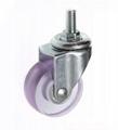 5022 PVC 透明輪 螺絲活動-粉紅