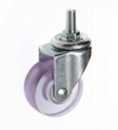 5022 PVC Transparent Caster (Swivel Threaded Stem)-pink