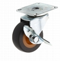 20 Series 278 High Elastic TPR Caster (Plate with Side Brake)