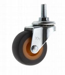 20 Series 278 High Elastic TPR Caster (Swivel Threaded Stem)