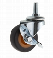 20 Series 278 High Elastic TPR Caster (Threaded Stem with Side Brake)