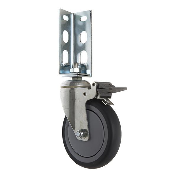 免螺絲角鋼輪 - 514  TPR