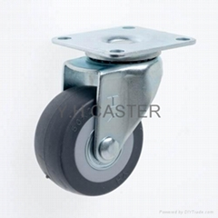 23 Series 5023 High Elastic TPR Caster (Plate w/o Brake)