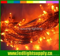 Orange led light string 10m