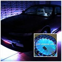 4pc set 7 color Undercar Lights RGB Under car Neon Light Kit+Remote control