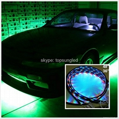 "Multi-Color Under Car LED Glow Neon Light Kit (2*36""+2*24"") RGB flexible strips"