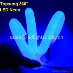 360° round led neon flex blue color