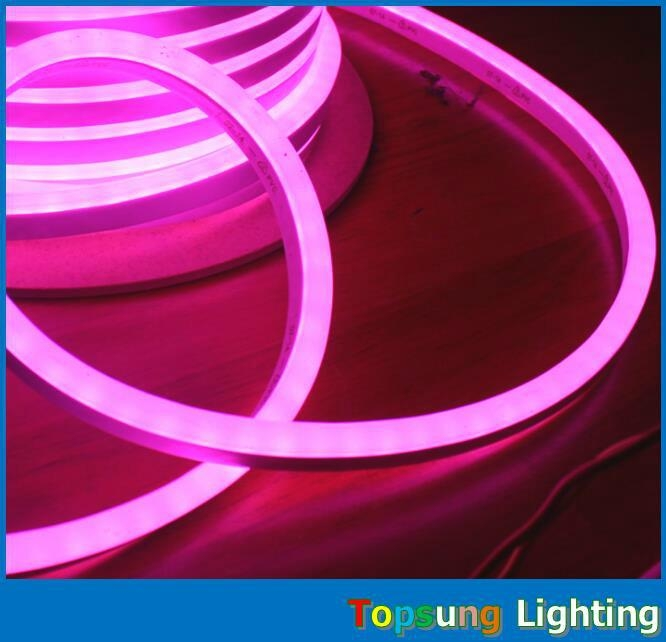 Ultra thin 8517mm pink led flexible strip lights rope double cover aloadofball Images