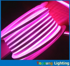 ultra-thin 8.5*17mm pink led flexible strip lights rope double cover