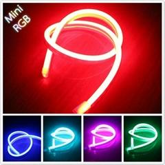 Ultra thin 110v RGB led flex neon tube 11x19mm Flat surface for pool