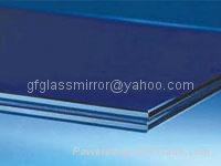 blue laminated glass