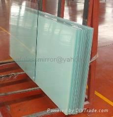 6.38mm,white laminated glass for window,milk white laminated glass