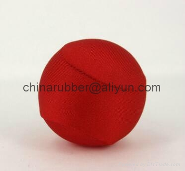 TPR stress ball, water bouncing ball with fabric, custom grape mesh squishy ball 1