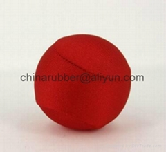 TPR stress ball, water bouncing ball with fabric, custom grape mesh squishy ball