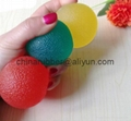 TPR stress ball, water bouncing ball with fabric, custom grape mesh squishy ball 7