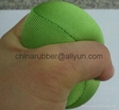 TPR stress ball, water bouncing ball with fabric, custom grape mesh squishy ball 8