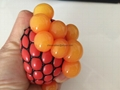 TPR stress ball, water bouncing ball with fabric, custom grape mesh squishy ball 4