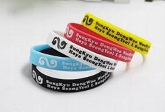 Promotional silicone wristband silicone fluorescent bracelet