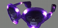 Halloween Light up LED Flashing Skull Sunglasses