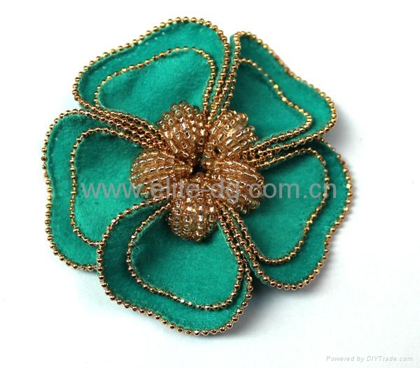 Genuine leather flower clips, leather shoe clips, leather ...